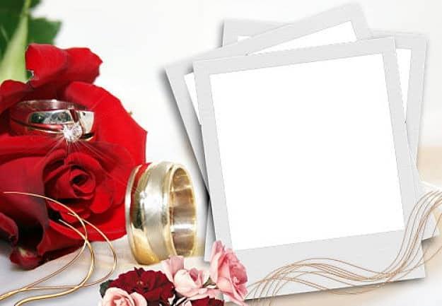 Foto polaroid alianzas de boda