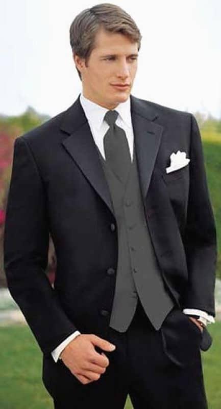 Hombre traje estilizado