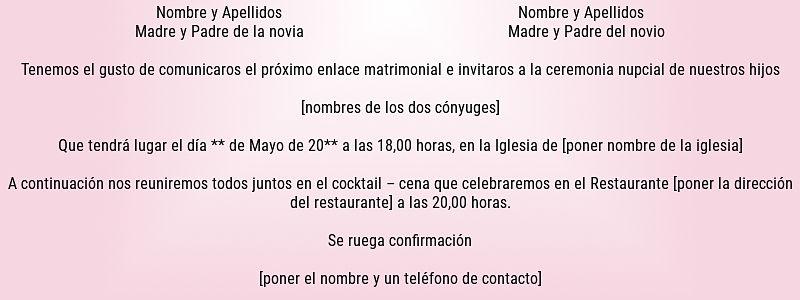 Invitación de boda 1