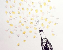 Libro de firmas con huellas de burbujas