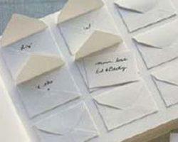Libro de firmas con tarjetas sencillo
