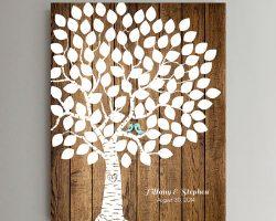 Libro de firmas hojas de árbol