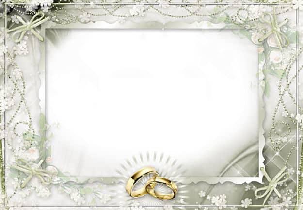 Marco cuadrado alianzas de boda