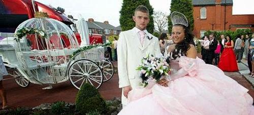 Novios en boda gitana