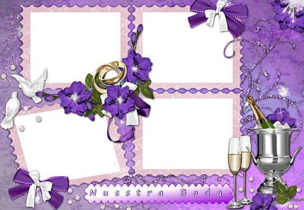 Pack 4 fotos con alianzas de boda