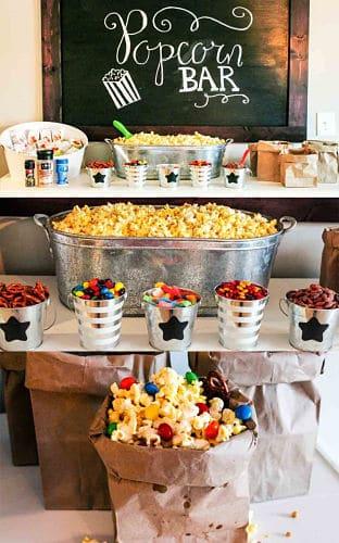 Pop corn bar para bodas