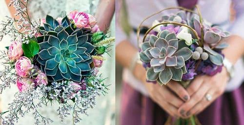 Ramo con flores suculentas