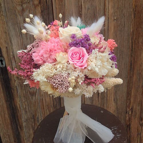 Ramo de novia en rosa