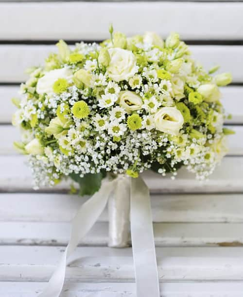 Ramo de novia en verde