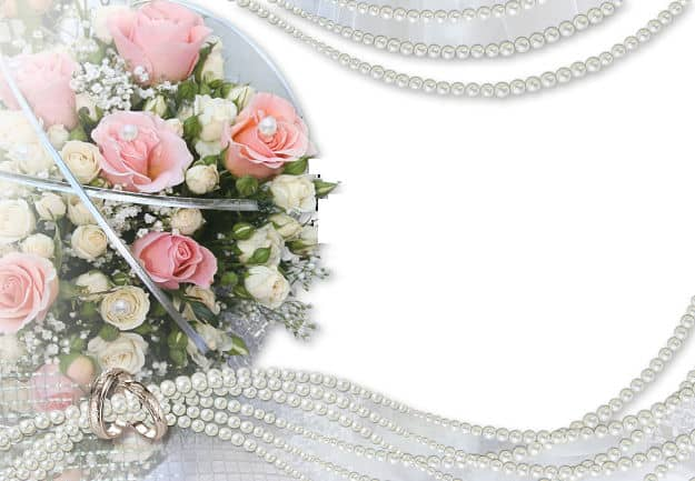 Ramo rosas y perlas