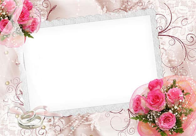 Marcos para fotos con alianzas de boda