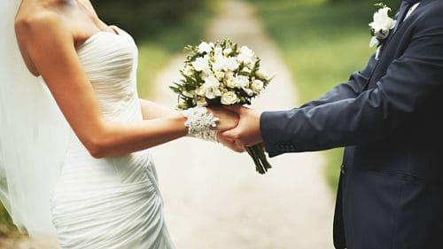 Recién casados felices