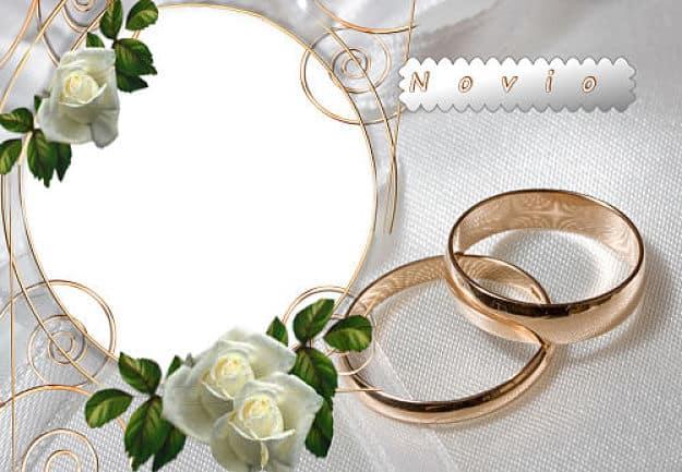 Rosas blancas foto de novio