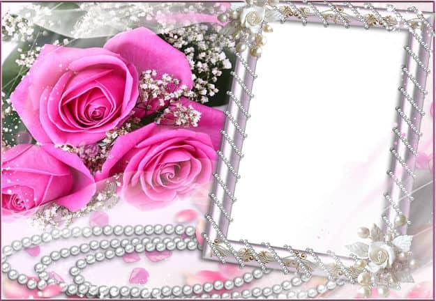 Rosas rosas perlas