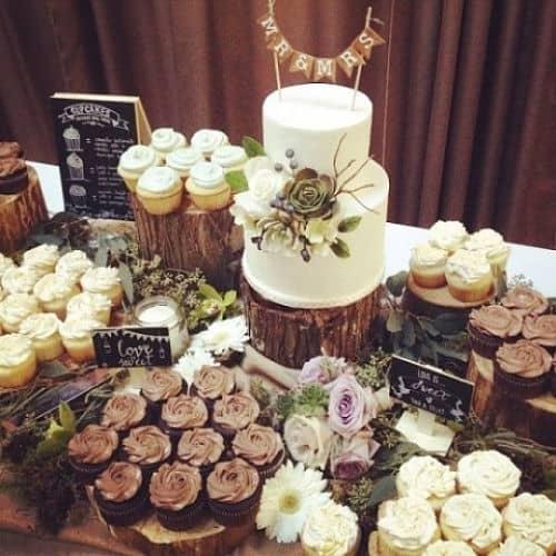 Tarta con cupcakes