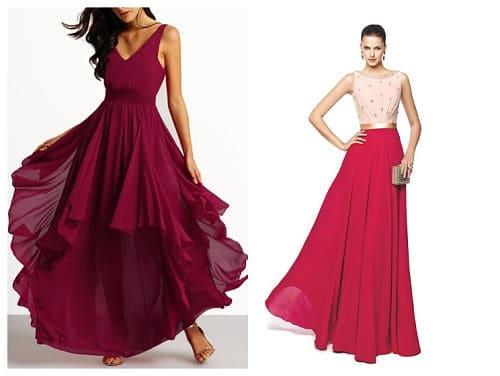 Telas vaporosas para vestidos