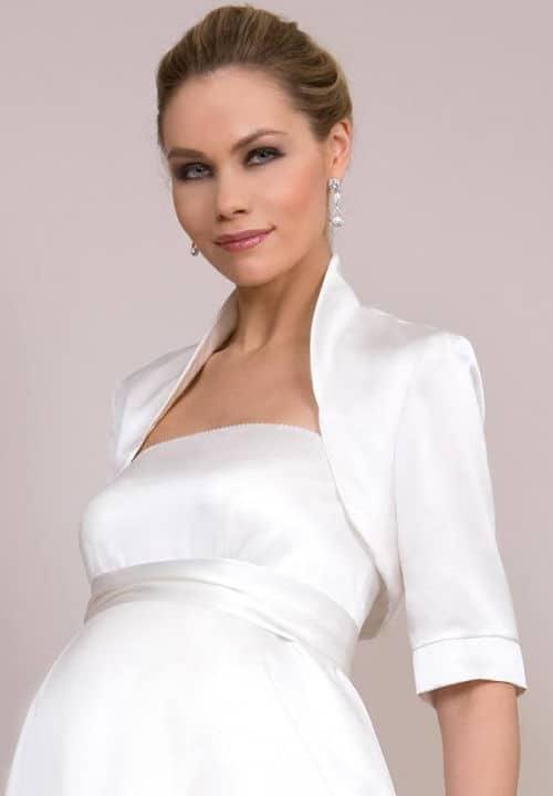 Vestido de novia embarazada para matrimonio civil cortos