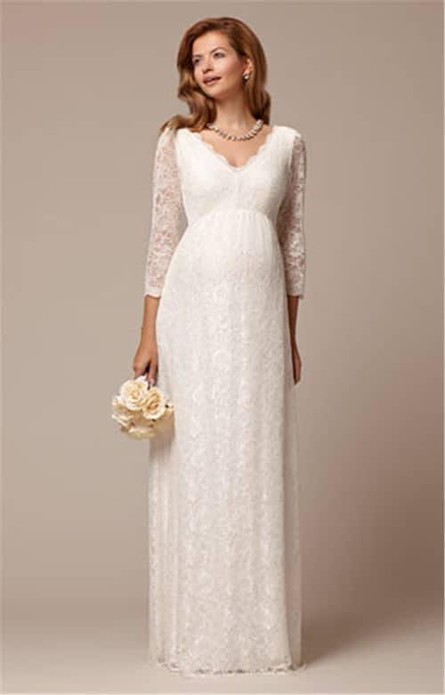Vestidos de novia corte princesa para embarazadas