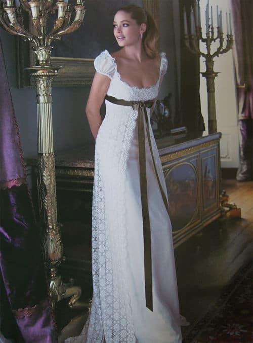 Vestido novia embarazada inspirado en la Edad Media