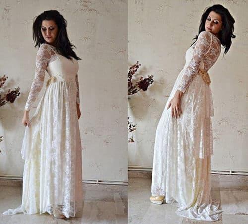 Vestido de vintage con encaje