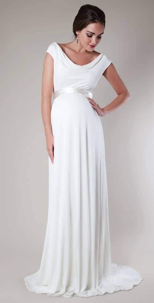 listado de vestidos de novia para embarazadas