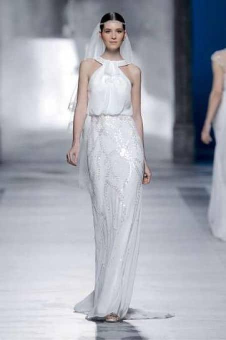 Vestido novia vintage ideal embarazada