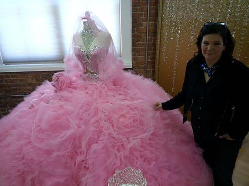 Vestido de fiesta para boda gitana