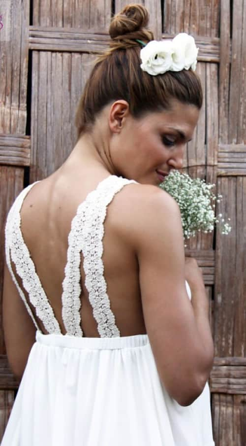 Vestido novia embarazada ideal para boda playera