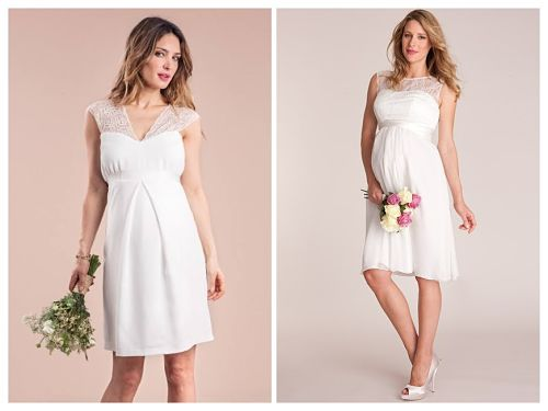 Vestido corto novia embarazada