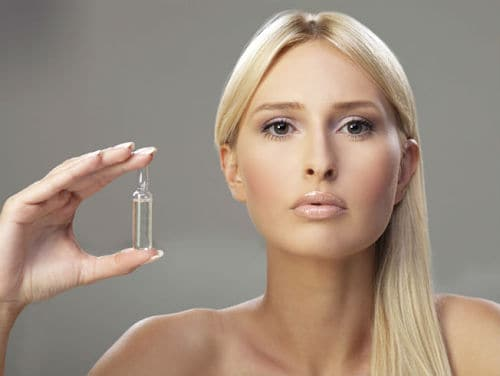Ampolla flash rostro antes de maquillaje