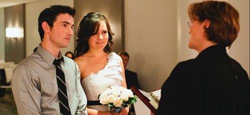 Celebración de boda civil
