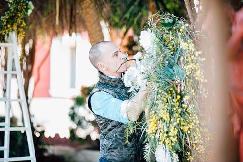 Decoración de una boda con flores