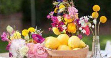 Limones y flores