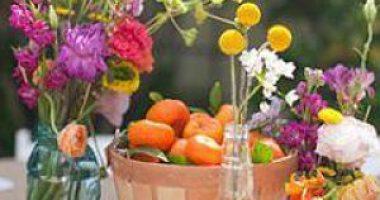 Mandarinas y flores