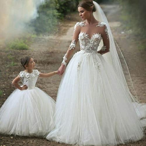 Vestidos de ninas para fiesta de matrimonio