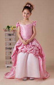 Vestido rosa con cola