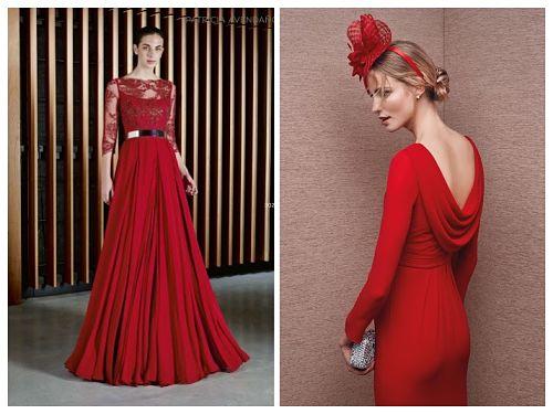 Vestidos de fiesta rojos para bodas