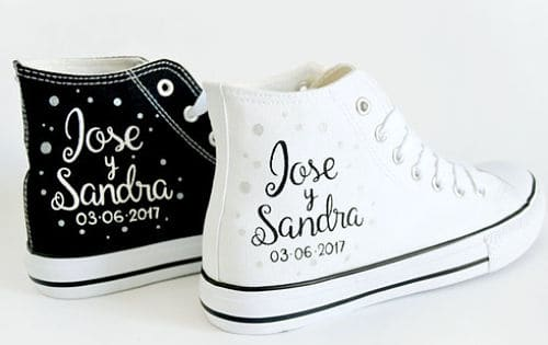 Zapatillas decoradas para novios