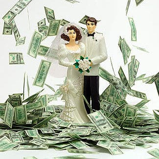 Dinero para regalar a los novios