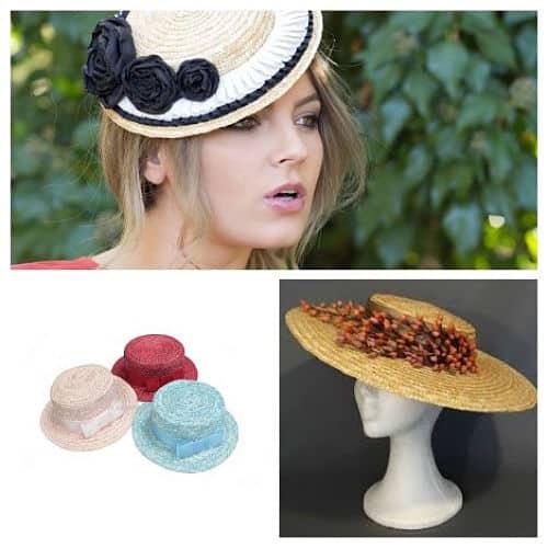 Tipos de sombrero canotier