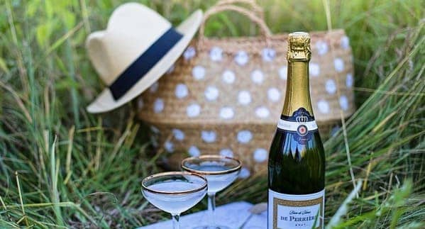 picnic para celebrar aniversario