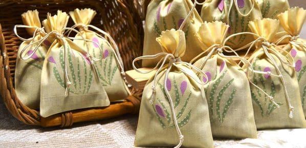 saquitos de lino aromaticos