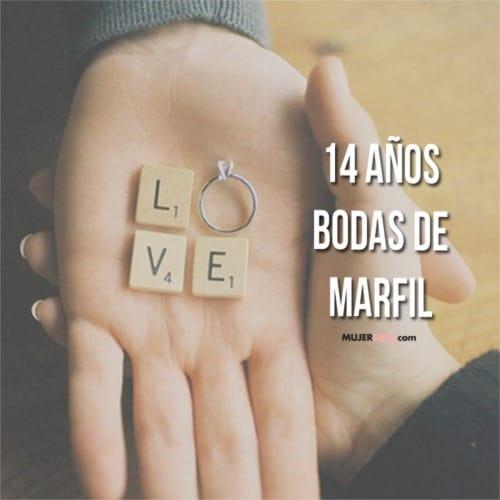 Aniversario de catorce años de boda