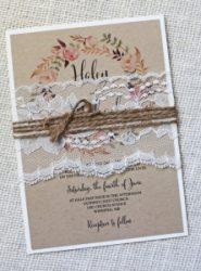 Invitación de boda vintage 10