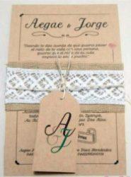 Invitación de boda vintage 11