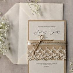 Invitación de boda vintage 12