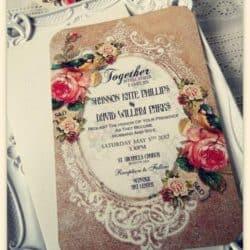 Invitación de boda vintage 13