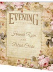 Invitación de boda vintage 14