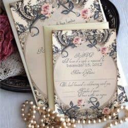 Invitación de boda vintage 15