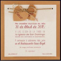 Invitación de boda vintage 16